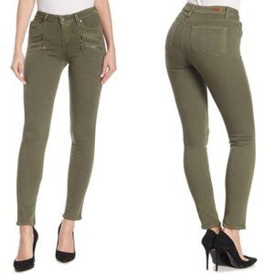 Paige Edgemont Ultra Skinny Jeans in Fatigue Green